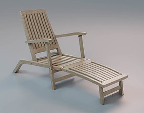 Deckchair low poly detailed model - Game Ready realtime 1
