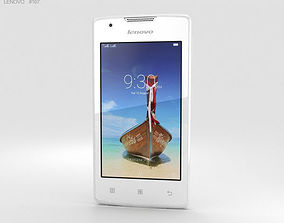 Lenovo A1000 Pearl White touch 3D model