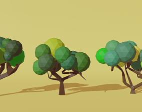 Low Poly Trees plant 3D model VR / AR ready