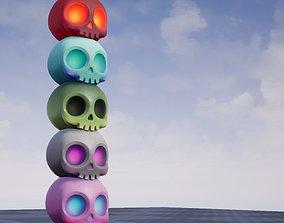 3D asset Cute Skull
