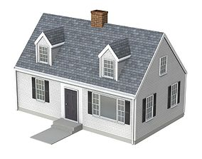 3D model Cape Cod Style House