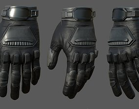 3D asset Gloves Sci-fi military fantasy cyborg armor