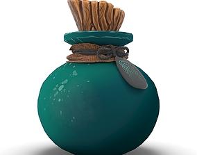 Alchemy Fantasy Potion Bottle 3D asset