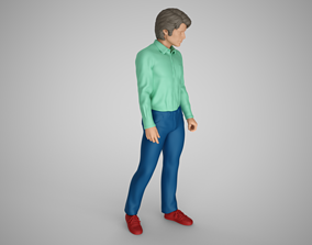 3D printable model Man Looking Down From High