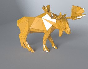realtime low-poly 3D printer model Moose