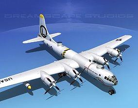 3D model Boeing B-50 Superfortress V08