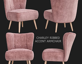 Charley Ribbed Accent Armchair 3d model low-poly