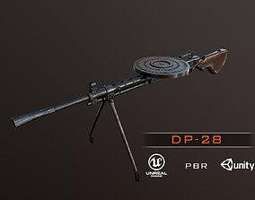 3D asset DP-28 Light Machine Gun PBR