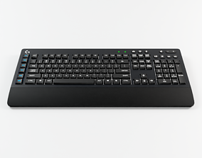 Logitech Gaming Keyboard 3D model low-poly