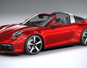 3D model Porsche 911 Targa 2021