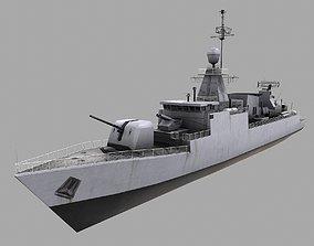 3D model Missile Equiped Corvette