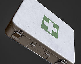 First Aid Kit Metal Box 3D asset