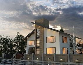 3D model THE SUBURBAN HOUSE