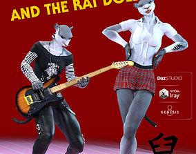 Mandy Rat for Genesis 8 Female 3D model