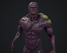 3D model Sci fi zombie mutant monster character
