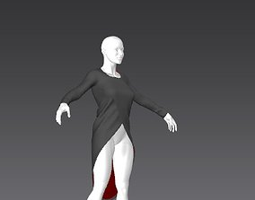 Clothes for Marvelous Designer Long Shirt01 3D