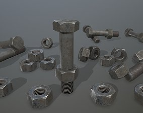 cutting Bolts 3D asset low-poly