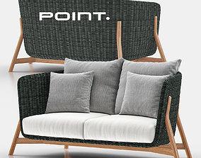 3D Round Sofa 2 - Point
