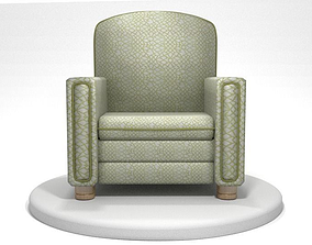 Old Grandpa Armchair 3D model