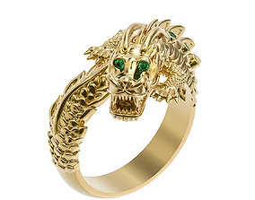 3D print model Chinese dragon ring