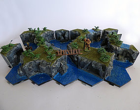 gurbs 3D printable model Hexagonille Terrain - Cliffs