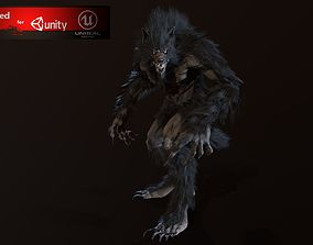 Werewolf 3D asset animated