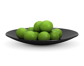 3D model Limes in a black bowl