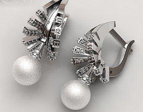 Cleopatra Pearl Earrings light 3D print model