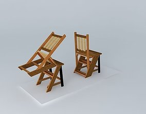 3D model Turn chair turned, saw Ladder