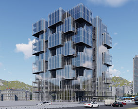 3D Office Building architectural business