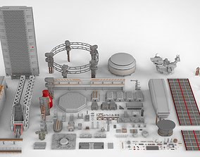 Sci-Fi architecture Elements collection 7 3D model