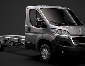Peugeot Manager Chassis Truck Single Cab 4035WB 3D model 1