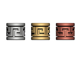 3D print model Greek key Tube Beads and Charms