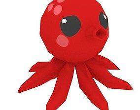 Cute Low Poly Octopus 3D model