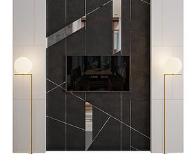 Wall Panel - Stone and Mirror 3D model
