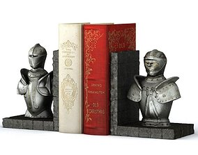 3D model Knight Bust Book End