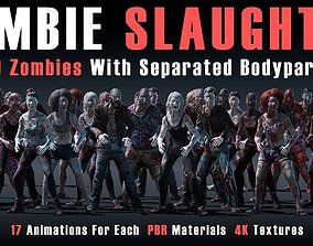 Zombie Slaughter 3D asset animated
