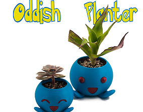 3D printable model Oddish Planter -Pokemon Planter - 4