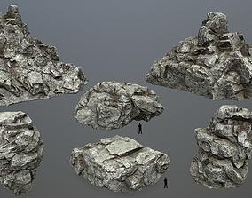 white rocks 3D model realtime