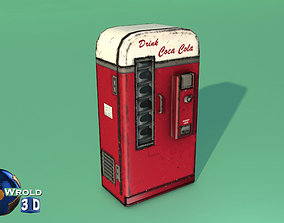 game-ready Lowpoly Coca Cola Machine 3d model