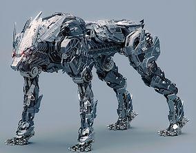 3D model metalanimal Metal Wolf Fenrir