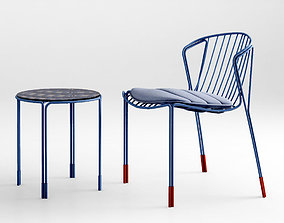 Tait Tidal Chair Table Lounge chair 3D