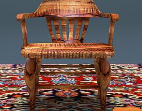 3D model Antique Elm Wood Chair
