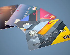 Credit Card PBR Game Ready 3D asset