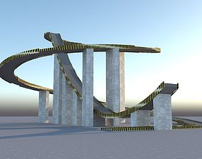 Big Bridge Stunt Jump Ramp 3D model