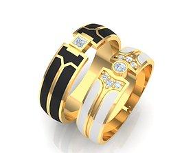 3D printable model Wedding rings family