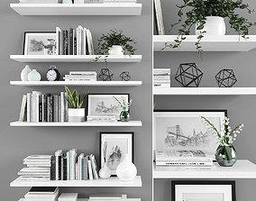 vase 3D asset low-poly Decorative set