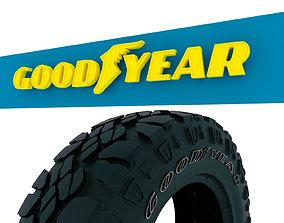 game-ready Goodyear logo 3d model