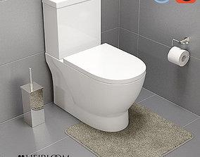 3D model Studio 1 Wall Faced Toilet Suite