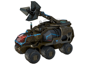Antenna Vehicle Rigged 3D model